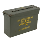 "30 CAL 7.62 MM 11"" X 4"" X 7"" AMMO BOX"