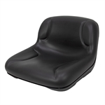 MILSCO BLACK LOW BACK VINYL SEAT