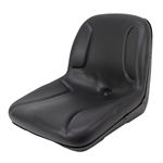MILSCO BLACK CUSHION SEAT W/DRAIN HOLE