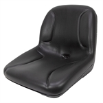 MILSCO BLACK VINYL CUSHION SEAT W/DRAIN HOLE
