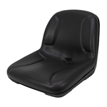 BLACK MILSCO VINYL CUSHION SEAT W/DRAIN HOLE