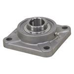 "1-3/16"" Bore Stainless Steel 4 Bolt Flange Bearing"