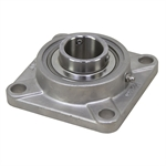 "1-7/16"" Bore Stainless Steel 4 Bolt Flange Bearing"