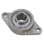 "1-3/16"" Bore Stainless Steel 2 Bolt Flange Bearing"