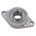 "1-7/16"" Bore Stainless Steel 2 Bolt Flange Bearing"