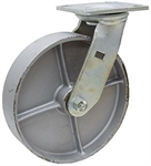 "8"" x 2"" Swivel Steel Plate Caster"