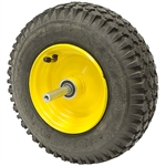 4.10/3.50-6 TIRE & WHEEL ASSEMBLY W/ AXLE & BRAKE DRUM