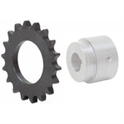 17 Tooth 40 Pitch Series W Weld-On Roller Chain Sprocket 40W17B