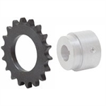 9 Tooth 80 Pitch Series W Weld-On Roller Chain Sprocket 80W09B