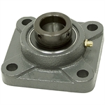 "1-1/8"" 4 Bolt Flange Bearing w/Lock Collar"
