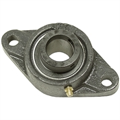 "1-1/4"" 2 Bolt Flange Bearing w/Lock Collar 206 Housing"