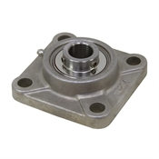 "1-1/4"" Bore Stainless Steel 4 Bolt Flange Bearing Dura-Roll SSUCF206-20"