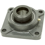 "1-1/4"" 4 Bolt Flange Bearing w/Lock Collar 207 Housing"