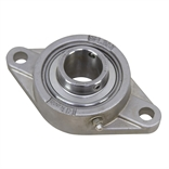 "1-1/2"" Bore Stainless Steel 2 Bolt Flange Bearing"