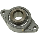 "2-1/8"" 2 Bolt Flange Bearing w/Lock Collar"