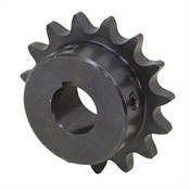 "15 Tooth 1/2"" Bore 40 Pitch Roller Chain Sprocket 40BS15H-1/2"