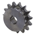 "18 Tooth 1-3/8"" Bore 80 Pitch Roller Chain Sprocket 80BS18H-1-3/8"