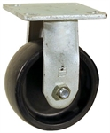 "5"" x 2"" Rigid Plate Caster Poly Wheel"