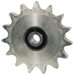 "15 Tooth 5/8"" Bore 50 Pitch Idler Roller Chain Sprocket 7/16"" Wide Hub"