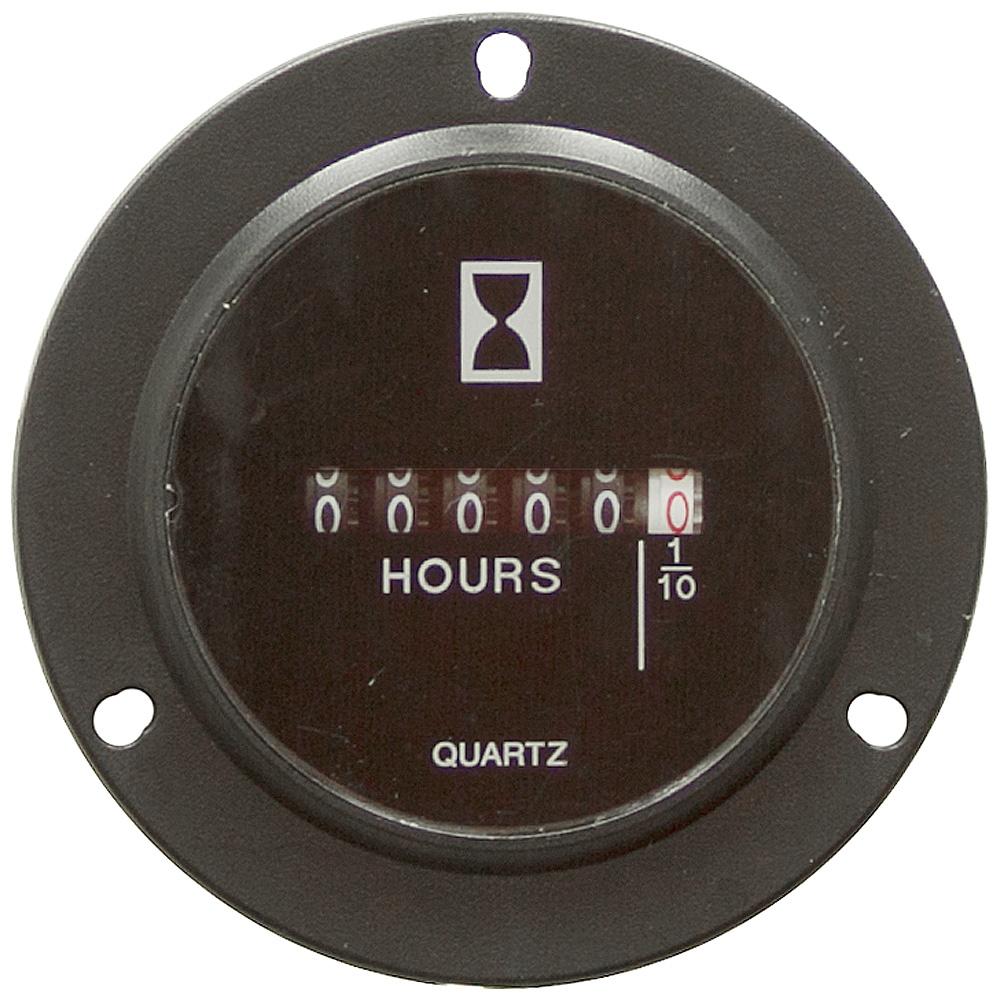 Electric Motor Hour Meter : Vdc hour meter hole mount meters counters