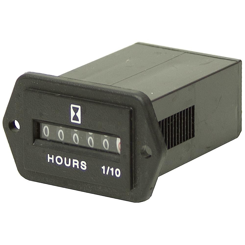 Electric Motor Hour Meter : Vdc hour meter rectangular meters counters