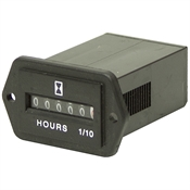 12 Volt DC Hour Meter Rectangular 10002