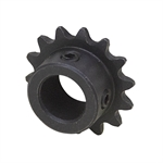 "10 Tooth 1/4"" Bore 25 Pitch Roller Chain Sprocket 25BS10-1/4"