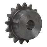 "11 Tooth 1/4"" Bore 25 Pitch Roller Chain Sprocket w/o Keyway or Setscrews"