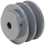 2.55 OD 1/2 Bore 2 Groove Pulley