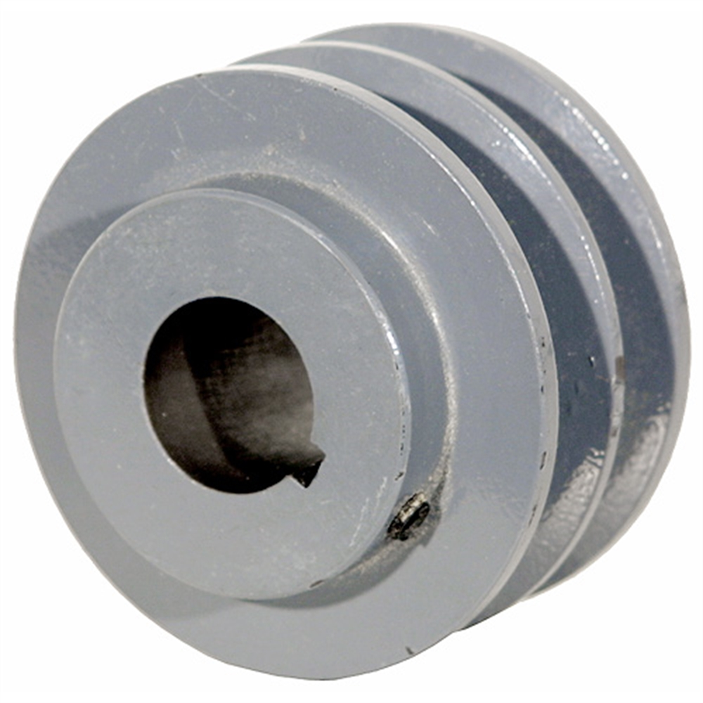 2.95 OD 3/4 Bore 2 Groove Pulley | Finished Bore Pulleys | Pulleys ...