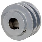 3.55 OD 1 Bore 2 Groove Pulley