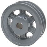 4.95 OD 1 Bore 2 Groove Pulley