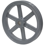5.95 0.D. 1-1/8 Bore 2 Groove Pulley