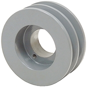 3.75 OD H-Bushing Double Groove Pulley