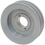 5.25 OD H-Bushing Double Groove Pulley