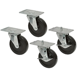 "4"" x 1"" Caster Set w/ Brake And Adjustable Height"