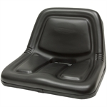 135 Deluxe High-Back Black Seat