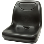 140 Deluxe Ultra-High Back Black Seat