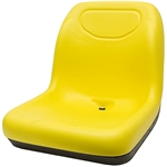 140 Deluxe Ultra-High Back Yellow Seat Black Talon 140010YE-SGL