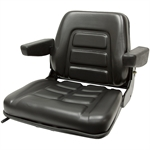 355 Universal Fold-Down Black Seat w/Armrests Black Talon 355000BK