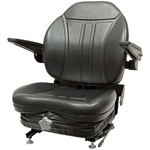 360 High-Back Suspension Black Seat w/Armrests Black Talon 360000BK