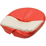 503 DELUXE RED/WHITE PAN SEAT CUSHION