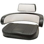 560 3-PC IH Black/White Seat Cushion