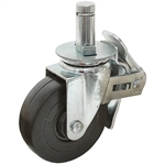 "5""x1-1/2"" Swivel Stem Caster w/Swivel & Wheel Lock"