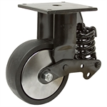 "6""x2"" Rigid Plate Caster w/Shock Absorber"
