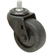 3x1-1/4 Threaded Swivel Stem Caster Dyna Tred TPR Gray Black Oxide Frame