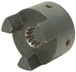 "5/8"" 9 Tooth Splined L-100 Jaw Coupling Half"