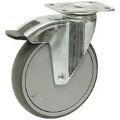 "150mm(5.9"") x 32mm(1.26"") Swivel Plate Caster"