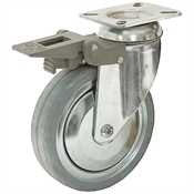 125mm x 32mm Swivel Plate Caster w/Brake