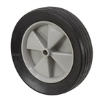 "10""x2-1/2"" Rubber Wheel w/ Warped Tread"